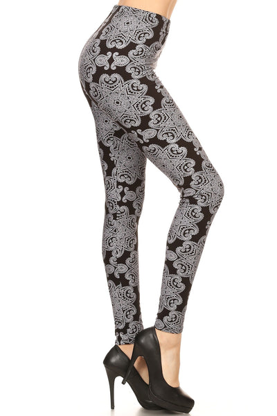 sueded retro - mandala legging