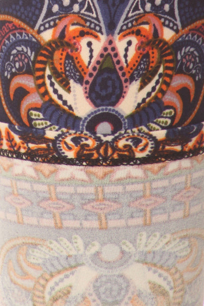 sueded tribal paisley legging