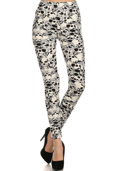 sueded shadow skulls legging