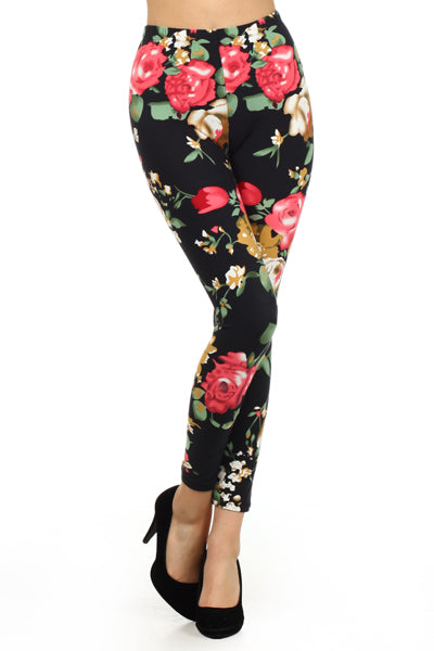 sueded enchanted rose legging
