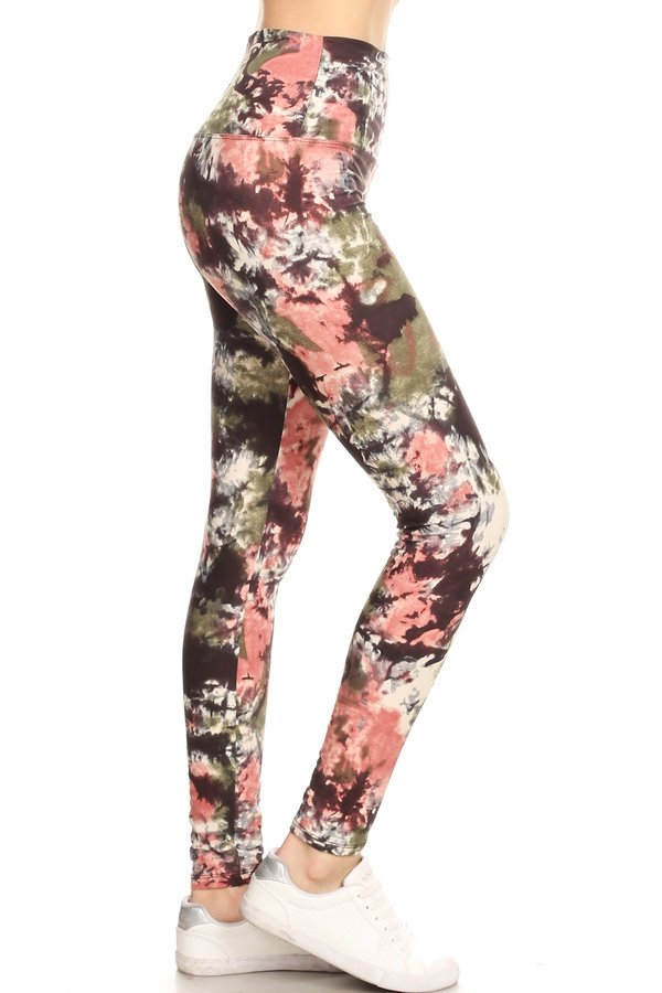 sueded high waist autumn splash legging
