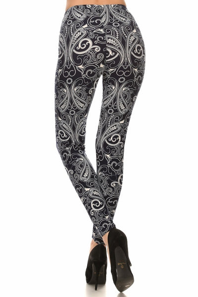 sueded paisley legging