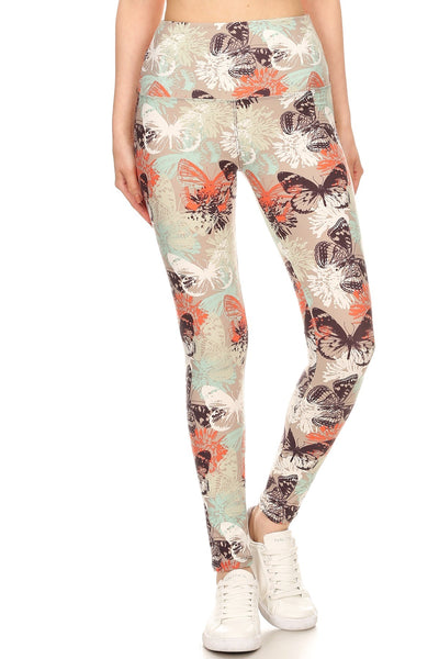 sueded high waist justinia butterfly legging
