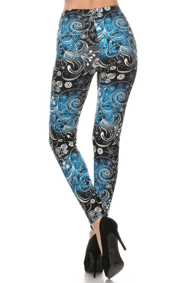 sueded ornate legging