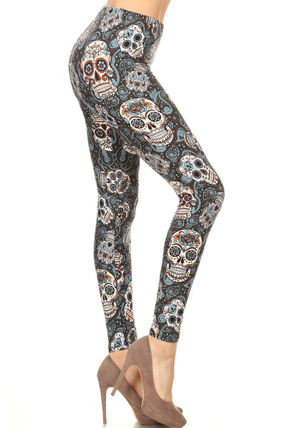 sueded muertos parade legging