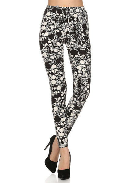 sueded night skulls legging