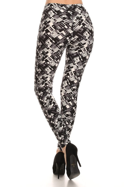 sueded diamond stamp legging