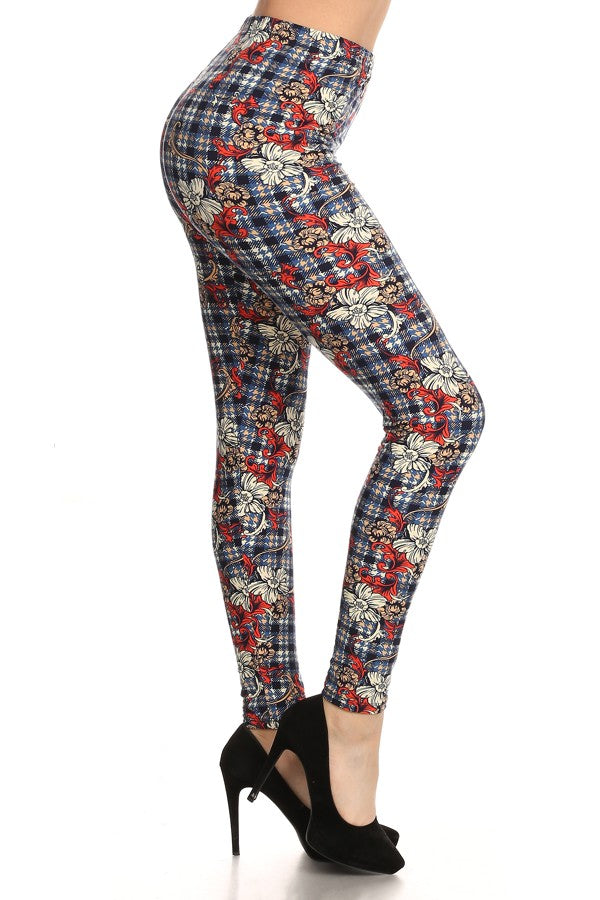 sueded gingham style legging
