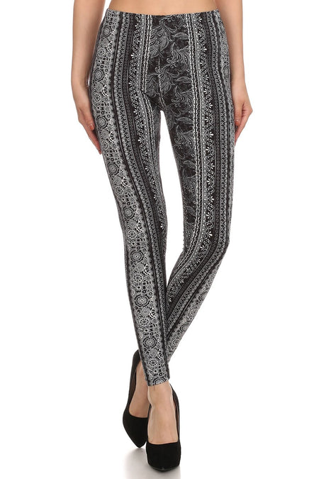 sueded b/w new lace legging