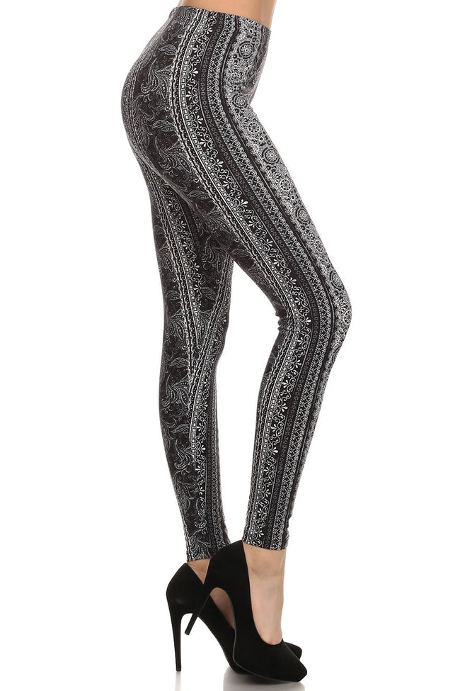 sueded shannon stripe legging