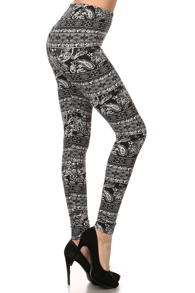 sueded paisley patch legging
