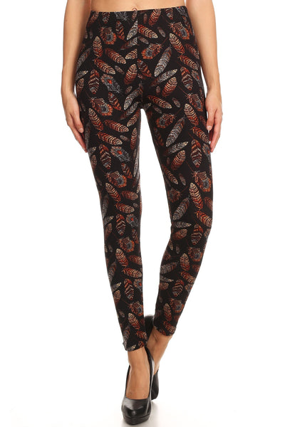 sueded boho feathers legging
