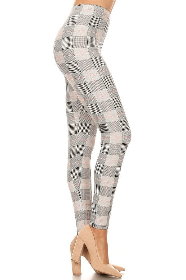 sueded mad b/w madras legging