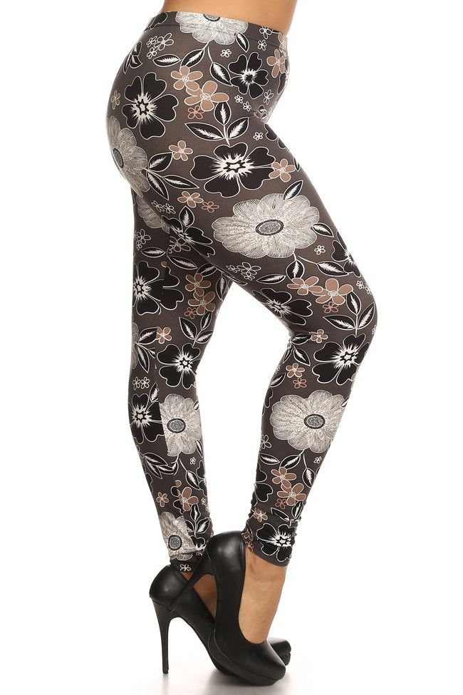 sueded elsa blossom legging plus