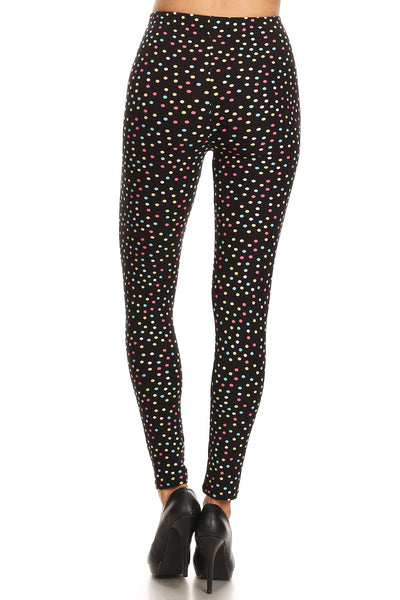 sueded fun dots legging
