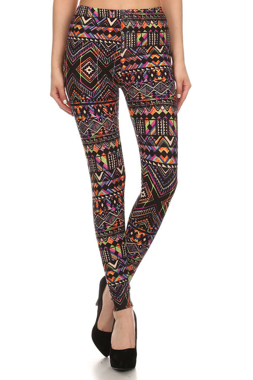 sueded modern aztec legging