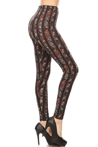 sueded tribal diamond legging