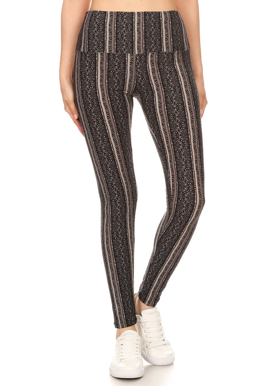 sueded high waist shelby stripe legging