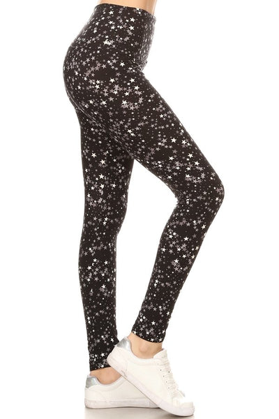 sueded high waist star-lette legging