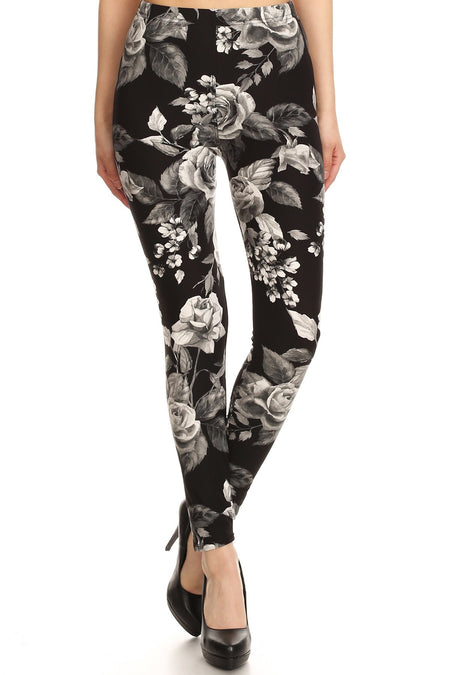sueded april flower legging