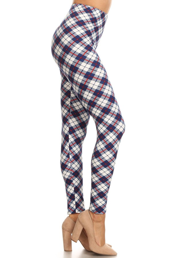 sueded french argyle legging