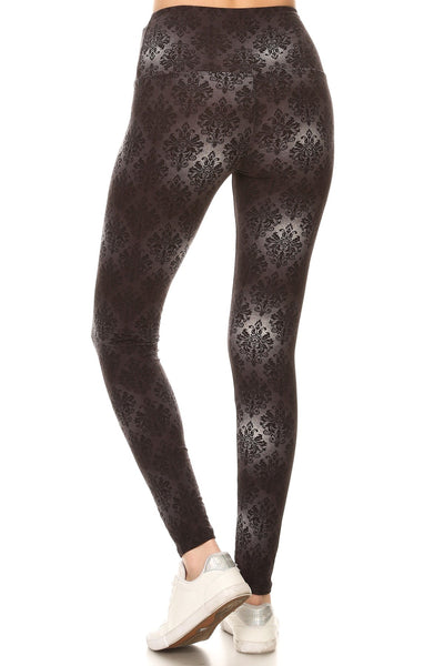 sueded high waist luna baroque legging