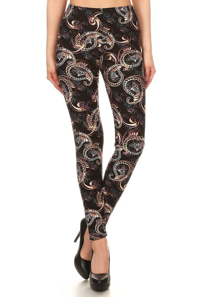 sueded magical paisley legging