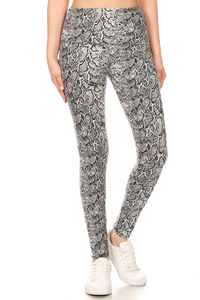 sueded high waist samara snake legging
