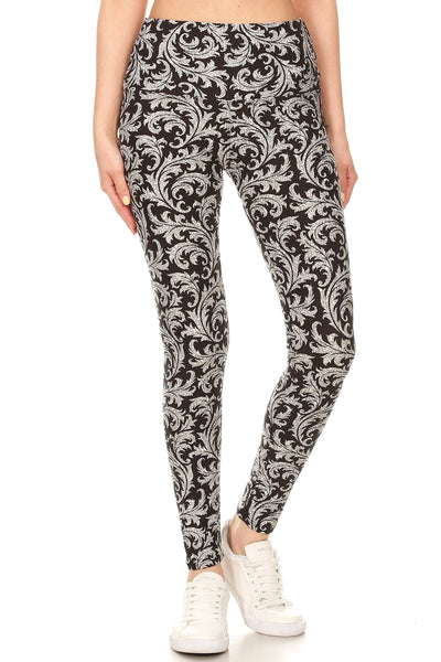 sueded high waist belle baroque legging