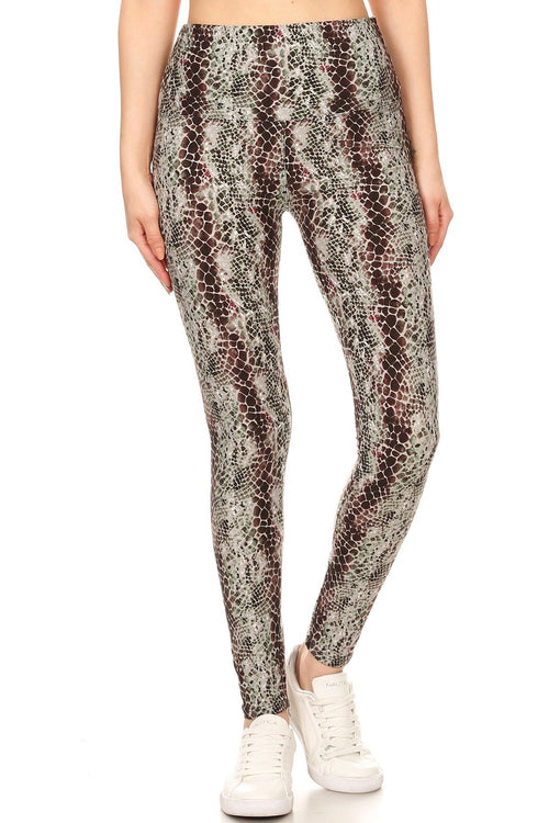 sueded high waist chloe croc legging