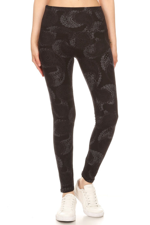 sueded high waist pretty in paisley legging