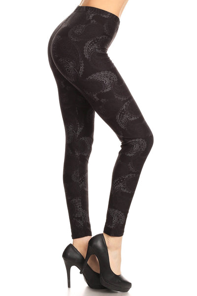 sueded pretty in paisley legging