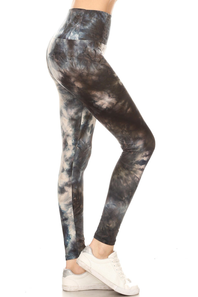 sueded high waist deep sea tye dye legging