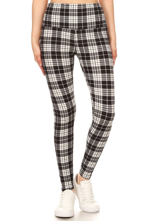 sueded high waist kayla - tartan legging
