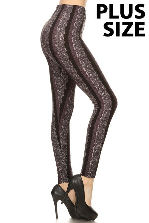 sueded diva stripe legging plus