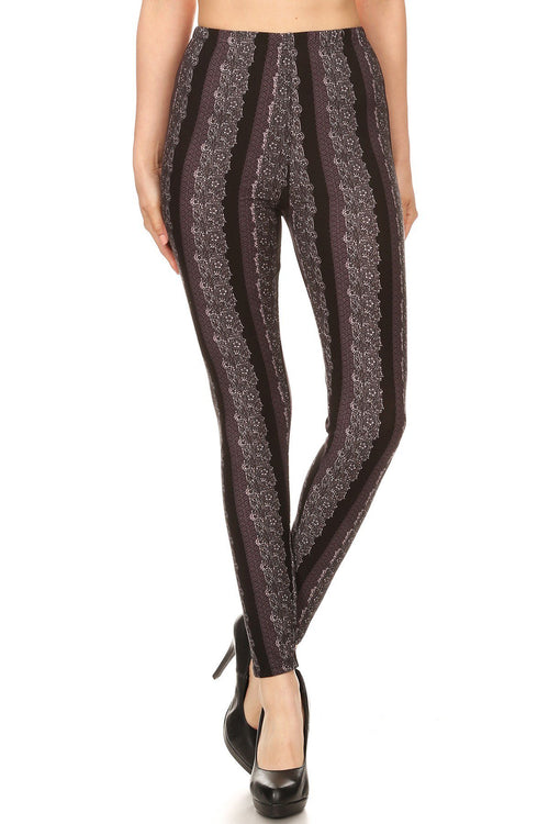 sueded diva stripe legging