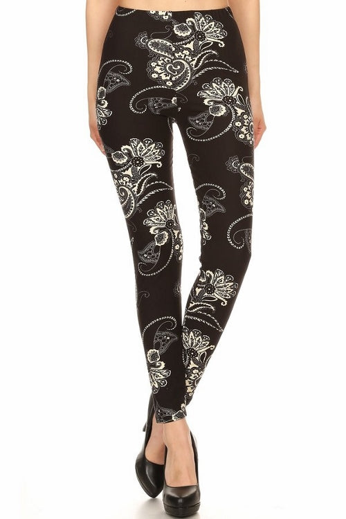 sueded penny paisley legging