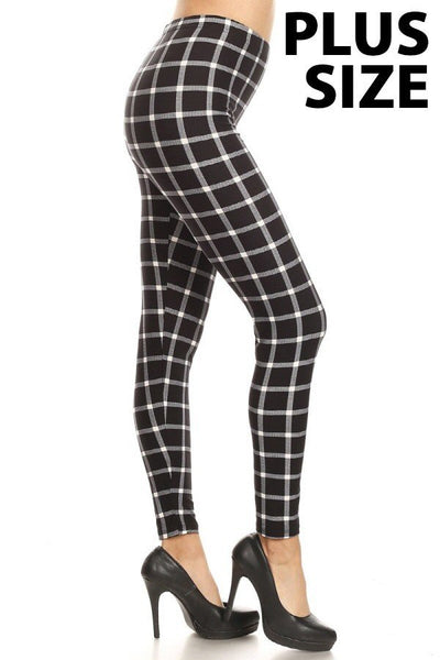 sueded millies plaid legging plus