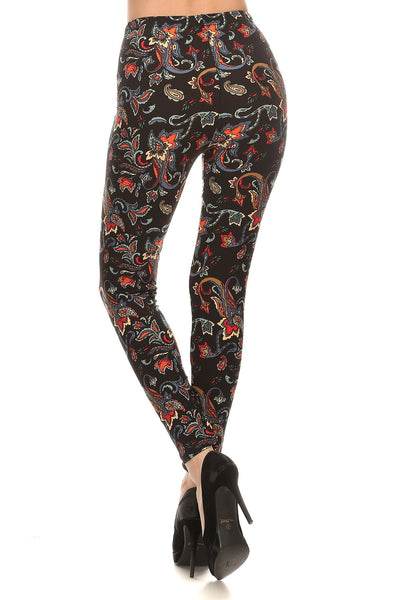 sueded phoenix flower legging