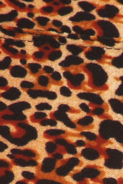 sueded high waist wild cheetah legging