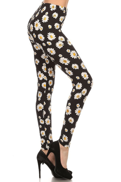 sueded crazy daisy legging