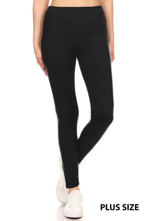 sueded high waist solid plus legging
