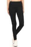 sueded high waist solid legging