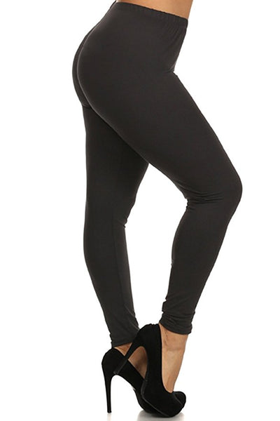 sueded plus size solid legging