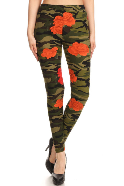 sueded camo rose legging