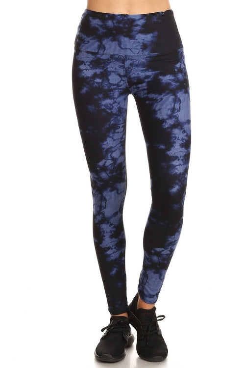 sueded high waist sapphire splash legging