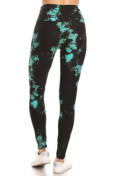 sueded high waist turquoise moon legging