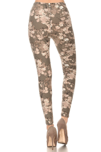 sueded early grey blooms legging