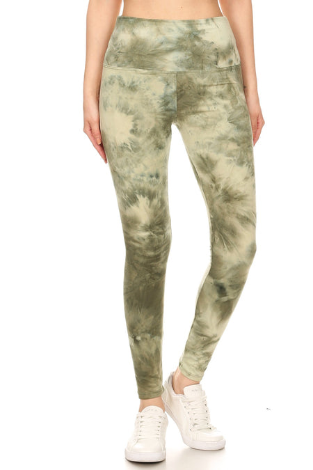 sueded deep sea tye dye capri legging