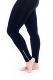silver zip legging